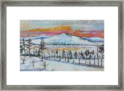 Winter View From Kripalu Framed Print