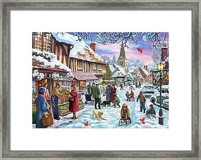 Winter Village Usa Framed Print