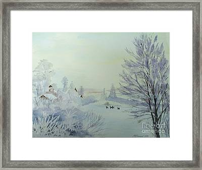 Winter Visitors Framed Print