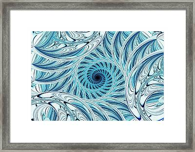 Winter Vortex Framed Print
