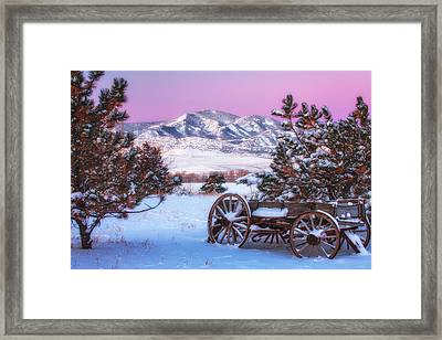 Winter Wagon Framed Print by Darren  White