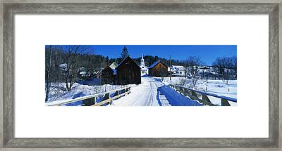 Winter Waits River Vt Framed Print by Panoramic Images
