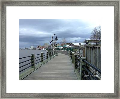 Framed Print featuring the photograph Winter Walk  by Bob Sample