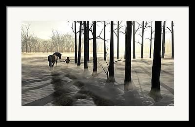Icy Digital Art Framed Prints