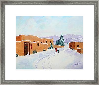 Winter Walk Framed Print by Mary Anne Civiok