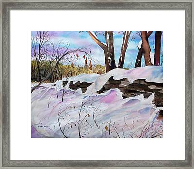 Winter Wall  Framed Print by Scott Nelson