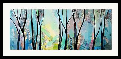 Maine Winter Paintings Framed Prints