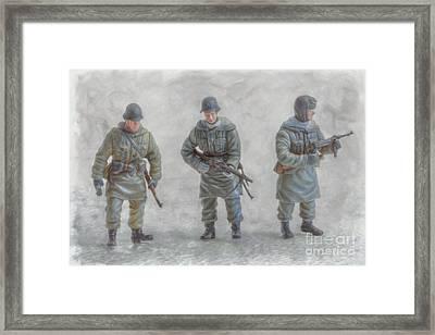 Winter War Panzer Grenadiers Framed Print