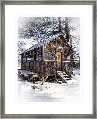 Winter Warming Hut Framed Print by Edward Fielding