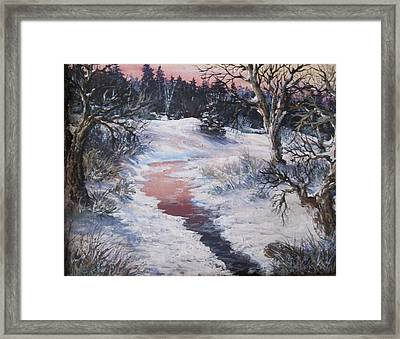 Framed Print featuring the painting Winter Warmth by Megan Walsh