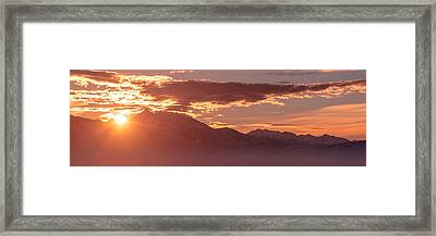 Winter Wasatch Daybreak Framed Print by Chad Dutson