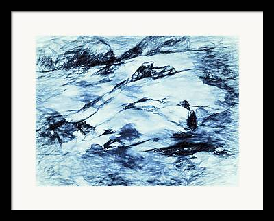 Drifting Snow Drawings Framed Prints