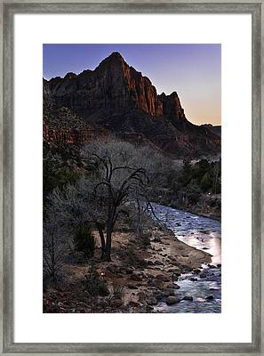 Winter Watchman Framed Print by Chad Dutson