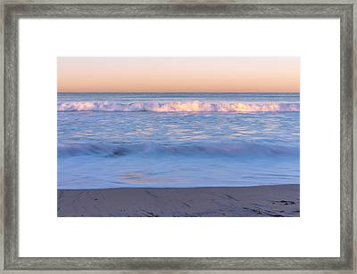 Winter Waves 7 Framed Print by Priya Ghose