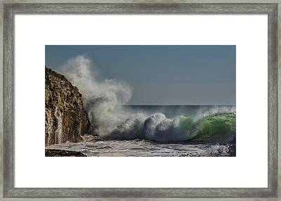 Winter Waves Framed Print