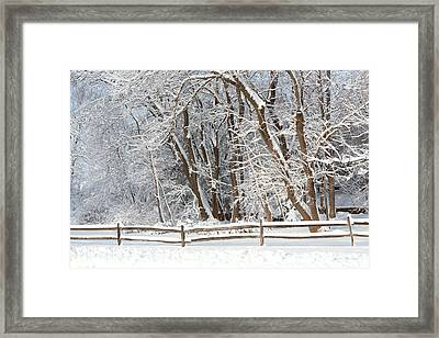 Winter - Westfield Nj - Snow Day Framed Print by Mike Savad