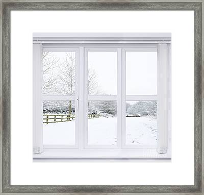 Winter Window Framed Print