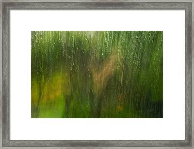 Winter Window Scene Framed Print by Marco Oliveira
