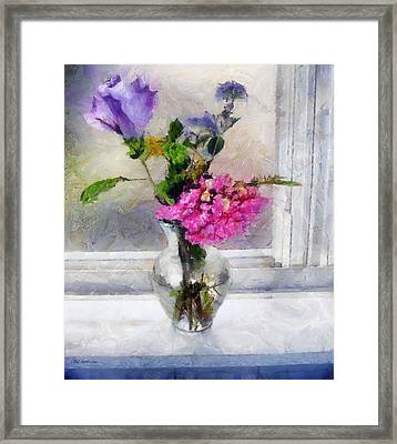 Winter Windowsill Framed Print