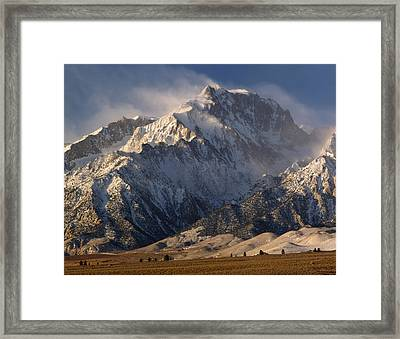 2m6474-winter Winds Over Mt. Williamson  Framed Print by Ed  Cooper Photography