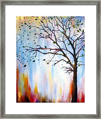 Winter Windstorm Framed Print