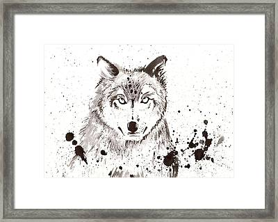 Winter Wolf Framed Print