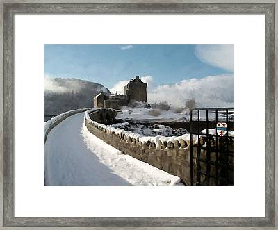 Winter Wonder Walkway Framed Print by Bruce Nutting