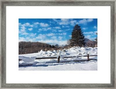 Winter Wonderland - Aspen Framed Print by Kim Hojnacki