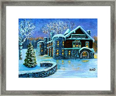 Winter Wonderland At The Paine Estate Framed Print by Rita Brown