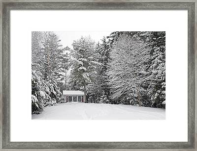 Framed Print featuring the photograph Winter Wonderland by Barbara West