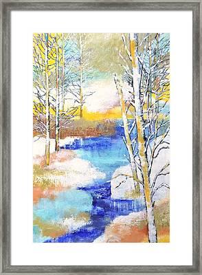 Winter Wonderland Framed Print by Betty M M   Wong