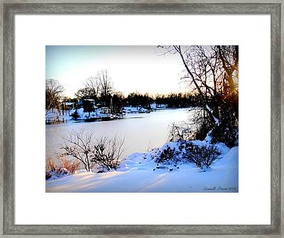 Winter Wonderland  In Maryland Usa Framed Print by Danielle  Parent