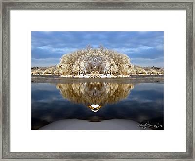 Winter Wonderland Love Framed Print