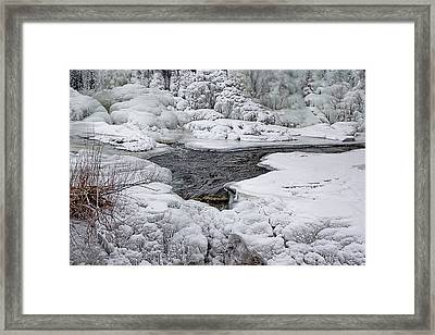 Framed Print featuring the photograph Vermillion Falls Winter Wonderland by Patti Deters