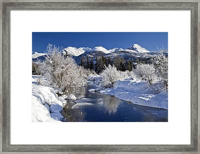 Winter Wonderland Whistler B.c Framed Print
