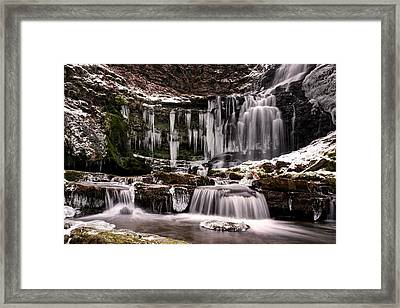 Winter Wonders At Scaleber Force Framed Print by Chris Frost