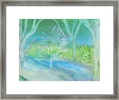 Winter Wood Framed Print
