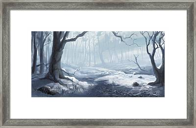 Winter Wood Framed Print by Sean Seal