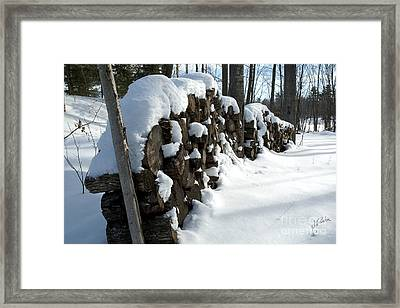 Winter Wood Supply Framed Print