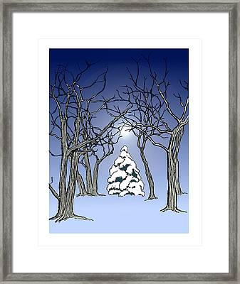 Winter Woods 3 Framed Print
