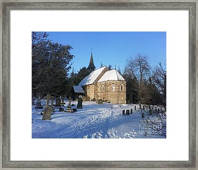 Winter Worship Framed Print