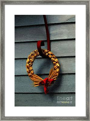 Winter Wreath Framed Print