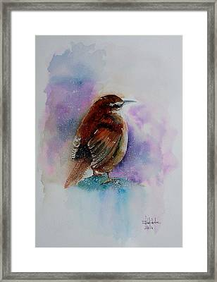 Winter Wren Framed Print