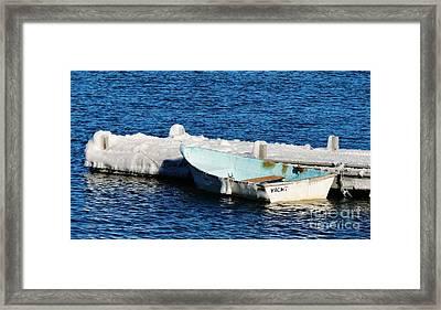 Winter Yacht Framed Print