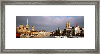 Winter, Zurich, Switzerland Framed Print by Panoramic Images