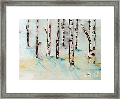 Winterbirch Framed Print