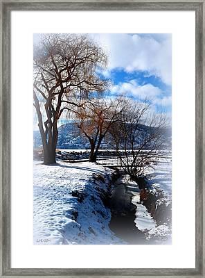 Wintercreek 2/8/2014  Framed Print by Guy Hoffman