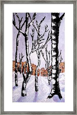 Winterforest Framed Print by Zeke Nord