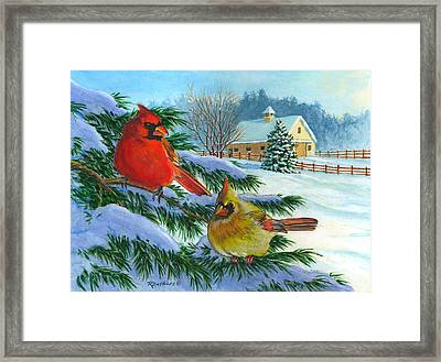 Winterlude Framed Print by Richard De Wolfe