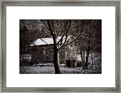 Winters At The Farm Framed Print